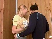 Cute teen Alisa gets a nice creampie