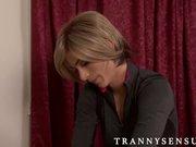 Magdalene enjoys her sweet trans massage