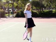 BAEB Blonde Anya Olsen fucked after tennis lesson