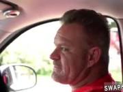 pal's daughter masturbates in car Driving