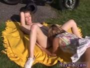 Hot blonde teen fucked girl bondage lesbian