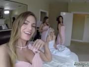 Teen brunette webcam tease xxx Bridesmaids