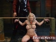 First time bdsm Big-breasted blonde beauty