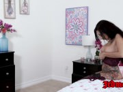 Inked slut Lily Lane hammered and fed with warm spunk
